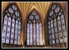 Chapterhouse Windows (veggiesosage) Tags: york cathedral fujifilm yorkminster stainedglasswindow x20 fujifilmx20