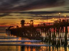 P1750505_6_7 (holds88) Tags: california sunset beach coast pier pacific panasonic oceanside hdr