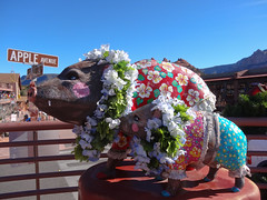 Sedona Pigs (MSSQUID) Tags: arizona art statue pig sedona swine piglet boar sow
