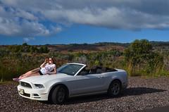 Sylwia and the Mustang (malinowy) Tags: winter vacation portrait ford car hawaii nikon holidays convertible kauai hi mustang nikkor cabrio zima cabriolet 1870 sylwia wakacje hawaiianislands kabriolet kabrio malinowy d7000 malinowynet