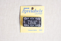 Iron On/Sew in Labels (the workroom) Tags: product theworkroom labelsproduct