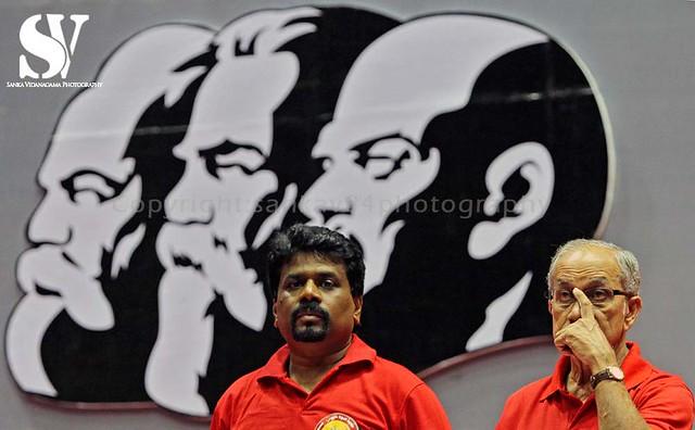 SRI LANKA-JVP-CONVENTION-LEADERS