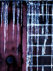"""""""Locked and Frozen"""" (weekendrailroader) Tags: door blue snow cold ice frozen trapped lock hard freeze icicle locked icicles"""