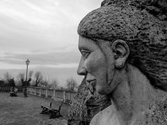 Volto (Claudia Celli Simi) Tags: blackandwhite bw italia bn pietra biancoenero abruzzo scultura faccia volto atri