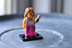 Pop Star from Series 2 (julochka) Tags: pink lego microphone collectible minifigs popstar series2 minifigures obsessmuch legominifigures