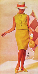 Spiegel 67 ss yellow suit (jsbuttons) Tags: hat yellow clothing buttons sears womens 1967 catalog 67 sixties skirtsuit vintagefashion