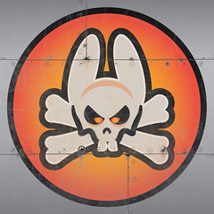 Dead Bunny Squadron (Ashley3D) Tags: bunny art vintage nose skull eyes paint cross aircraft rustic ii glowing skullandbones decal effect vector ashley3d