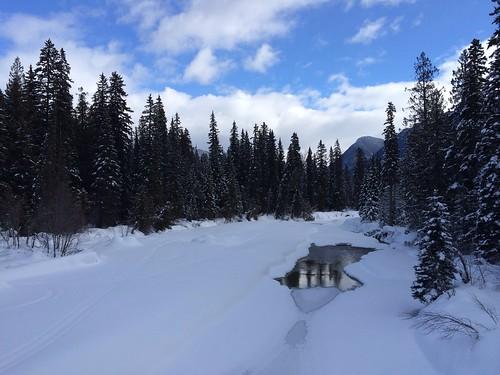 Blue River im Schneemantel