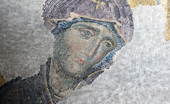 Virgin Mary (close), Deësis mosaic, Hagia Sophia