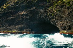 Sea Cave in Cliffs From Old Gulch to North Head - Lord Howe Island Circumnavigation (Black Diamond Images) Tags: mountains island boat paradise australia cliffs nsw boattrip circumnavigation lordhoweisland worldheritagearea thelastparadise circleislandboattour