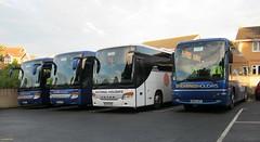 Shearings Setra S416GT-HD BK09LUW, BF10VDA,  National Holidays Setra S415GT-HD  NH09HRH &  Shearings Transbus bodied Volvo B12M MX04AFF in Sandown 8 July 2014 (IslandYorkie) Tags: buses isleofwight coaches sandown shearings singledeckers nationalholidays shearingsholidays volvobuses transbusbody volvob12m setras416gthd setras415gthd busesinthesouthofengland busesontheisleofwight mx04aff setrabuses nh09hrh bk09luw setrabody bf10vda coachesontheisleofwight