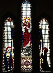 Sacred Heart Window, Our Lady of the Angels, Nuneaton (Aidan McRae Thomson) Tags: church window catholic stainedglass warwickshire nuneaton edwardnuttgens