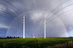 I've got the power () Tags: light sky electric clouds landscape photography photo rainbow nuvole foto photographer rice photos country full campagna wires cielo electricity fields alta fotografia pylons pali arcobaleno luce paesaggio fili stefano fotografo elettricit tralicci pilone trucco risaie tensione zush stefanotrucco