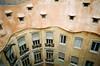 Casa Milà (.grux.) Tags: minolta af50bigfinder 27mmlens film agfavistaplus200 building windows gaudi casamilà lapedrera barcelona