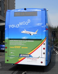 09D2773, Volvo B12B(T), Ethiopian, Airline advertising. (planebrains) Tags: aircoach volvo bus ethiopian ethiopianairlines dublin 2015 april april2015 advertising airlineadvertising