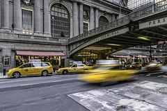 Busy bees (rayordanov) Tags: grandcentralstation newyorkcity nyc manhattan yellowtaxis longexposure