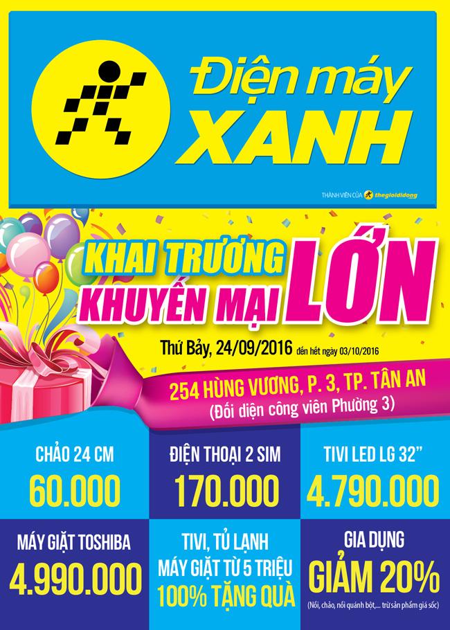 Khai trương siêu thị Điện máy XANH Hùng Vương, Long An