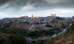 Panormica desde el Valle de Toledo (SergioGQ) Tags: 2016 atardecer panoramica toledo otoo lluvia nublado autumnfall sunset panorama cloudy