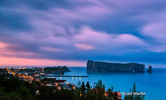 Perce Rock 06 (sugarzebra) Tags: perce gaspe quebec landmark sunset clouds timelapse longexposure storm