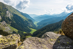 View from the Klammalm (pego28) Tags: sdtirol italien italy southtyrol natur nature holiday vacation urlaub 2016 nikon nikkor d800 ratschings berge alpen hill mountain alps wandern hike tramp sterzing mountainracines grn green wolken clouds sky himmel baum tree klammalm blue landschaft landscape felsen rock