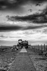 The storm arrives again (Mario Ottaviani Photography) Tags: sony sonyalpha sea seascape italy italia paesaggio landscape travel adventure nature scenic exploration view vista breathtaking tranquil tranquility serene serenity calm storm stormy stormyweather blackwhite blackandwhite biancoenero black white bianco nero seaside mare