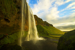 Quintessential Iceland (Matt Champlin) Tags: seljalandsfoss water waterfall amazing sunset iceland travel nature beautiful rugged exotic canon 2016 summertime vacation holiday torrent volcanic roadtrip lush green adventure