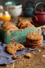 IMG_3129_exp (Helena / Rico sin Azcar) Tags: galletas cookies avena oats muesli frutossecos raisin chocolate nueces espelta