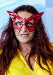 Masked Woman (J Wells S) Tags: mask candidportrait portrait woman prettywoman cincinnaticomicexpo dukeenergycenter cincinnati ohio cosplay costume dressup