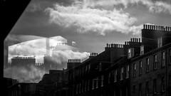 * (Timos L) Tags: chimney old house reflection glass bus downtown city urban landscape edinburgh scotland olympus omd em5ii panasonic 1232mm vario timosl explore explored flickrexplore