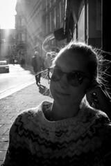Balck and White (we.base) Tags: portrait black white linzstreet linz street sunny sunnyday autumn herbst sonnenschein gegenlicht austria sterreich