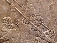 Warriors (Aidan McRae Thomson) Tags: nineveh relief britishmuseum london assyrian sculpture mesopotamia ancient