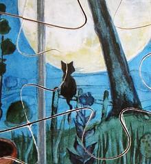 Der Mond im Kinderzimmer (Eva-Maria Ott-Heidmann) (Leonisha) Tags: puzzle jigsawpuzzle wooden woodenpuzzle holzpuzzle cat chat katze moon mond
