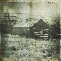 only one window (jssteak) Tags: canon t1i square house logcabin window vintage gurnge archive colorado