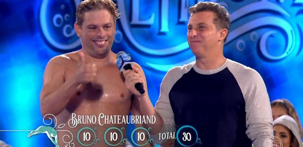 """Aos 41 anos, Bruno Chateuabriand ganha 3 notas 10 e lidera """"Saltibum"""""""
