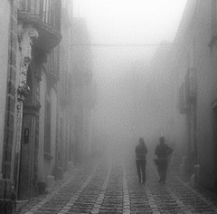 Erice, Trapani. Taken on a misty morning. Bella #sicilia #canon (Fong Lim) Tags: instagramapp square squareformat iphoneography uploaded:by=instagram
