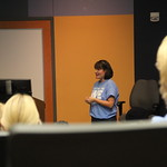 Dr. Rowe-Cernevicious talks at Faculty Forum.