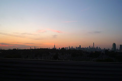 The city! (domit) Tags: skyline city newyork drive night sundown