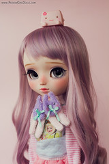 Little Smoothie (tomorrow) (-Poison Girl-) Tags: pullip pullips doll dolls for adoption fa smoothie november noviembre 2016 poisongirlsdolls poisongirldolls poison girl lilac purple wig hair long wavy fringe bangs haircut eyes eyechips handmade handpainted repaint repainted eyebrows eyeshadow eyelashes freckles pecas nose carving carved mouth lips sweet cute natural colorful makeup faceup junplanning jun planning grooveinc