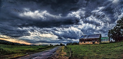 IMG_9170-71P2Rtzl1scT2BbLGE (ultravivid imaging) Tags: ultravividimaging ultra vivid imaging ultravivid colorful canon canon5dmk2 scenic clouds rural fields farm barn road stormclouds storm rainyday