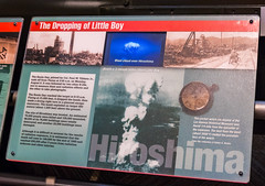 Hiroshima is Bombed (Serendigity) Tags: science usa hiroshima war bomb bradbury atomicbomb japan littleboy newmexico unitedstates display museum wwii losalamos