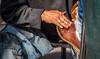 2016 - Mexico - San Luis Potosi - Hand Rubbed (Ted's photos - For Me & You) Tags: 2016 cropped mexico nikon nikond750 nikonfx sanluispotosi tedmcgrath tedsphotos tedsphotosmexico vignetting shoeshine polishing shoepolish streetscene street hand dirtyhand fingernails denim shoe loafer brownshoe sanluispotosiphotos busyhand people