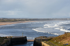 Looking north from Seaton Sluice (DavidWF2009) Tags: northumberland seatonsluice sea beach harbour