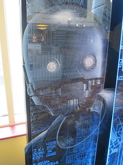 Star Wars - Rogue One Story standee - 2016 NYC 8281 (Brechtbug) Tags: star wars rogue one story standee 2016 theatre lobby 34th street amc theater new york city space opera film movie science fiction scifi android kaytoo k2so imperial droid protocol robot metal man mekkano adventure galactic prototype design metropolis fritz lang death plans card board december 12032016 nyc billboard poster billboards posters ralph mcquarrie ron cobb syd mead