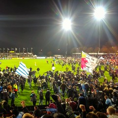 INSTAGRAM 365 Day 300: We Are The Champions! (tomas_nilsson) Tags: instagram365 sweden falkenberg malmöff mff malmö football sport soccer champions supporters joy euphoria stormingthepitch nightphotography night floodlights nightgame cellphonephotography lg g4 snapseed postprocessing