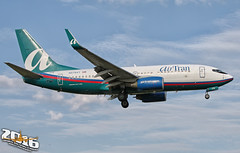 AirTran Airways | Boeing | 737-76N | N279AT | F/N:319 | S/N:32666 | L/N:1833 (Winglet Photography) Tags: plane airplane aircraft airline airlines airliner jet jetliner flight flying aviation travel transport transportation spotting planespotting georgewidener georgerwidener stockphoto wingletphotography canon dslr kmke mke milwaukee wisconsin generalmitchellinternationalairport beertown beercity brew mitchell fl trs citrus airtranairways boeing 73776n n279at 319 32666 1833 airtran 73g 737 737700 southwest n7719a swa wn