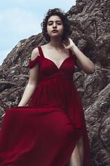 The Sphinx (MélyneVolua) Tags: sphinx icone red sea girl fashion portrait art classicalart dress photo photographer photography melynevolua bambou