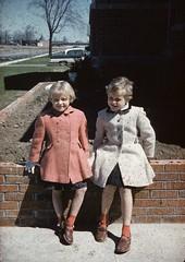 Chris and Cathy circa 1958 Iroquois (Hook-Blazey Family Photo History) Tags: iroquois cathydavis chrisdavis 1958 ontario