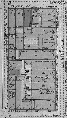 Sanborn's Insurance Maps (Square 36 - detail)