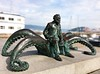 Jules Verne Statue (Cycling Man) Tags: statue art architecture object verne octopus