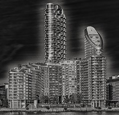 Modern-day Citadel (Andy J Newman) Tags: london england unitedkingdom gb surreal apartment tower block hdr hdrefex silverefex nikon d500 eastlondon artistic